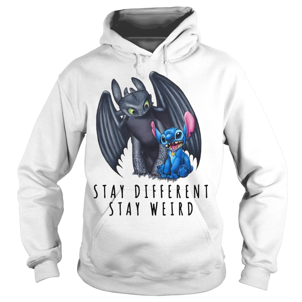 Toothless and Stitch stay different stay weird Hoodie