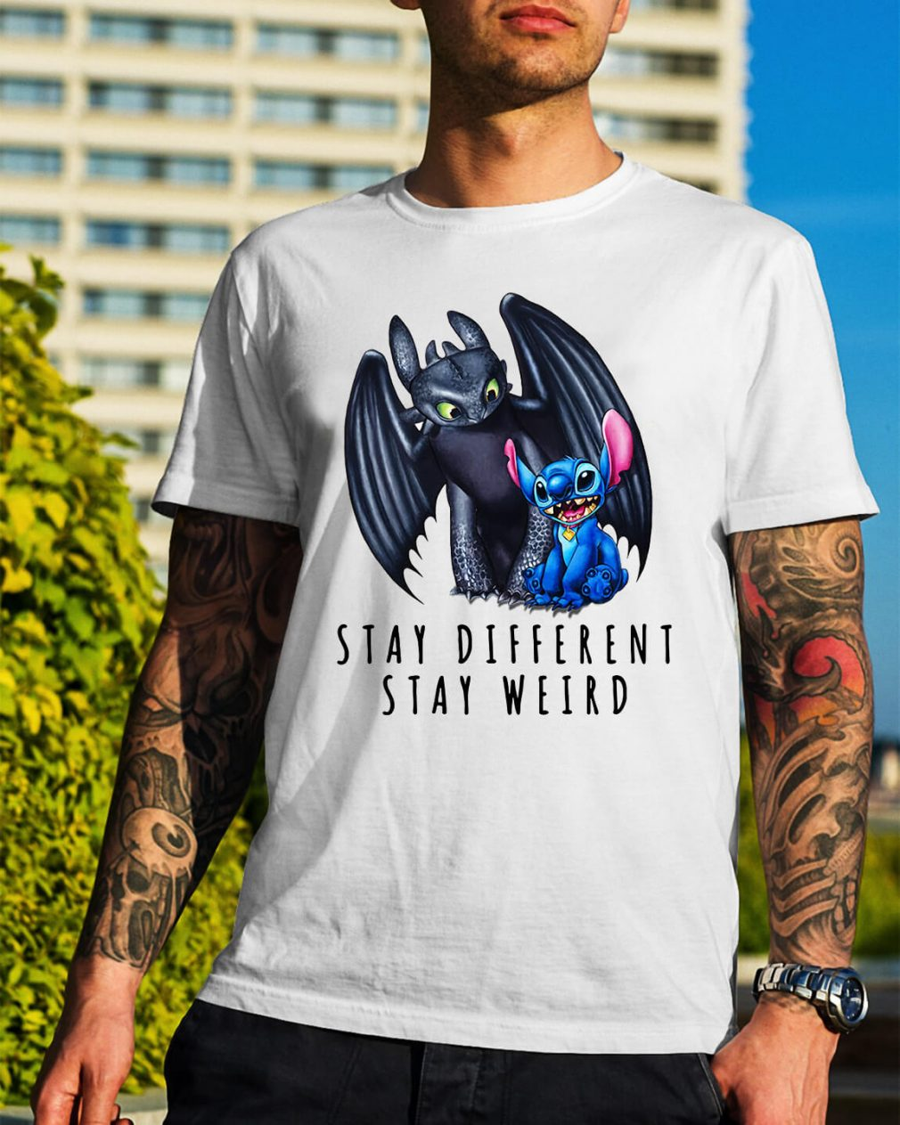 Toothless and Stitch stay different stay weird shirt