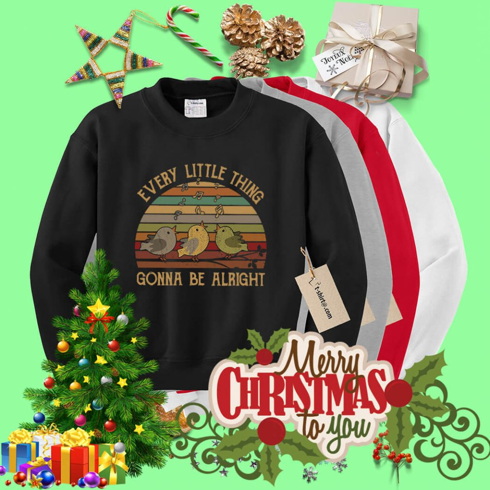 Vintage every little thing gonna be alright Sweater