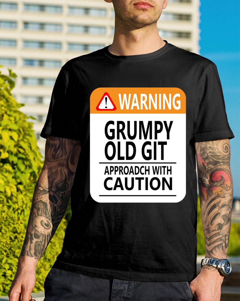 Warning Grumpy old git approach with caution shirt