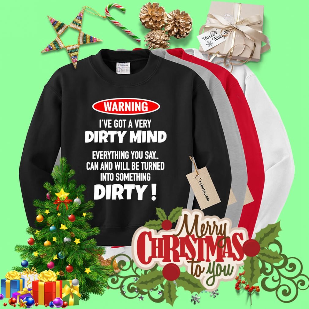 Warning I've got a very Dirty mind everything you say Sweater