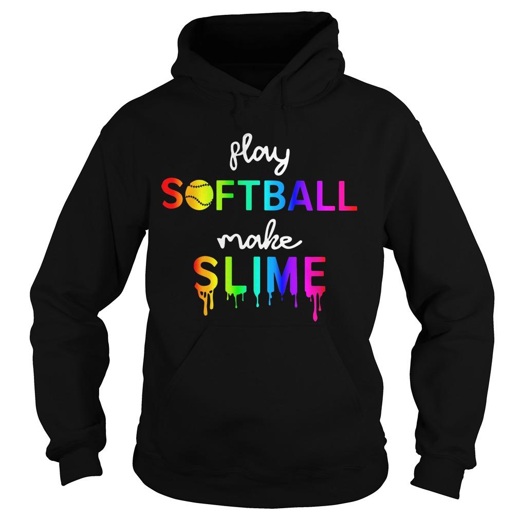 Watercolor play softball make slime Hoodie