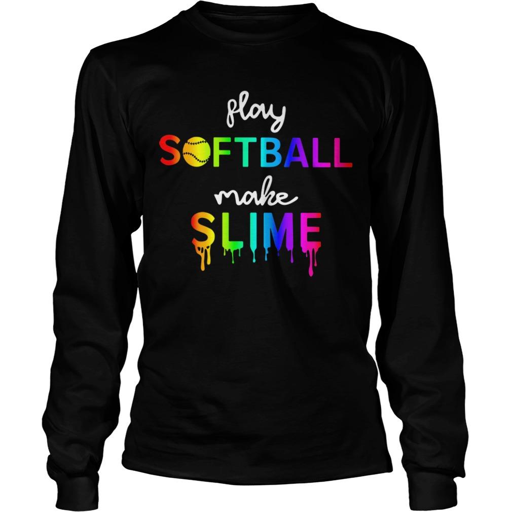 Watercolor play softball make slime Longsleeve Tee