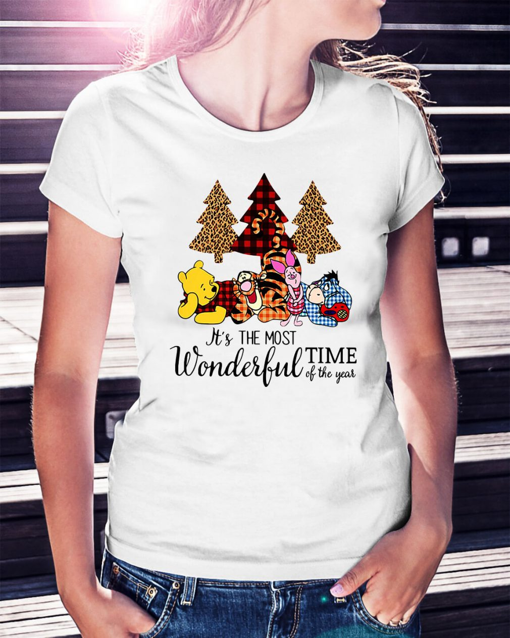 Winnie The Pooh It's the most wonderful time of the year Ladies Tee