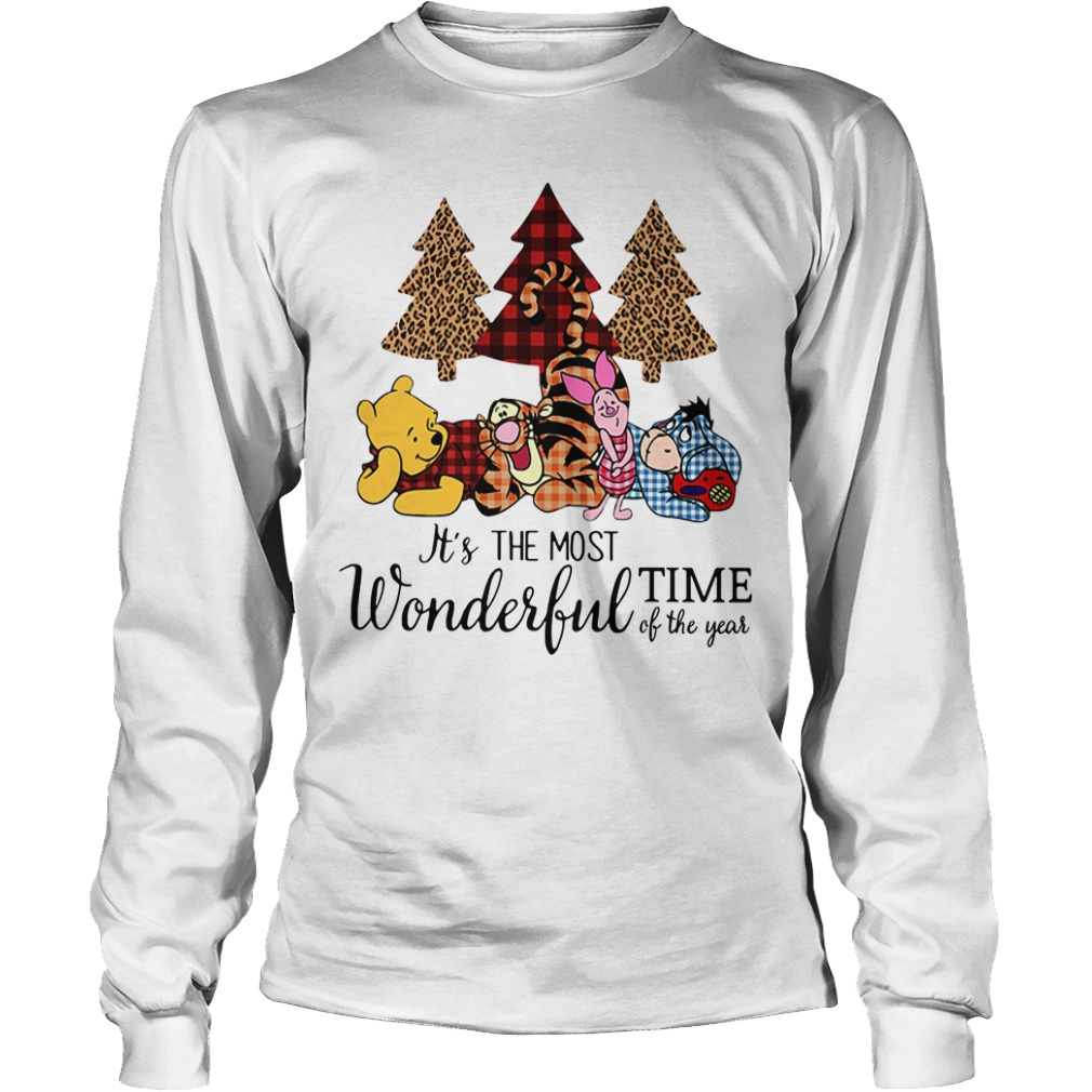 Winnie The Pooh It's the most wonderful time of the year Longsleeve Tee