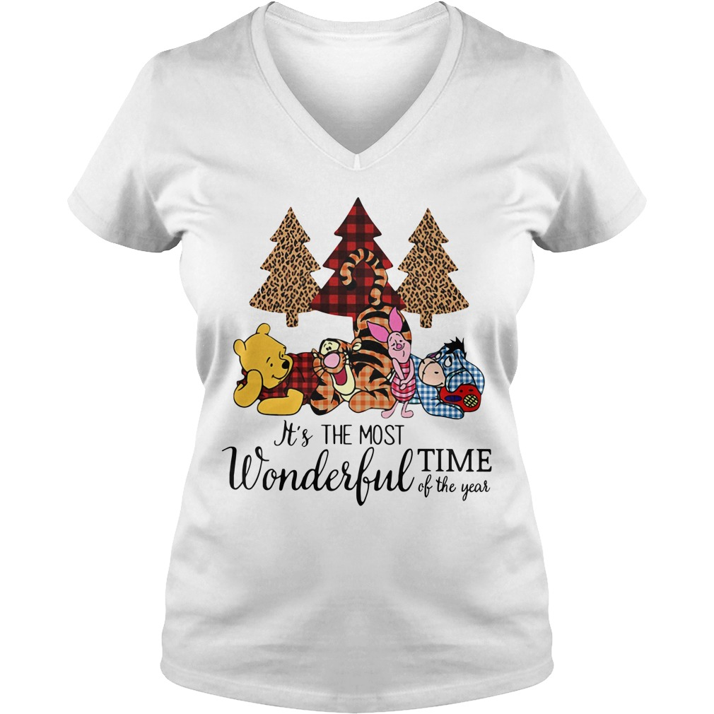 Winnie The Pooh It's the most wonderful time of the year V-neck T-shirt