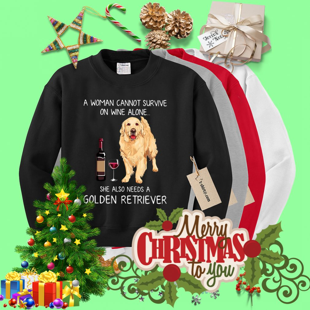 A woman cannot survive she also needs a Golden Retriever Sweater