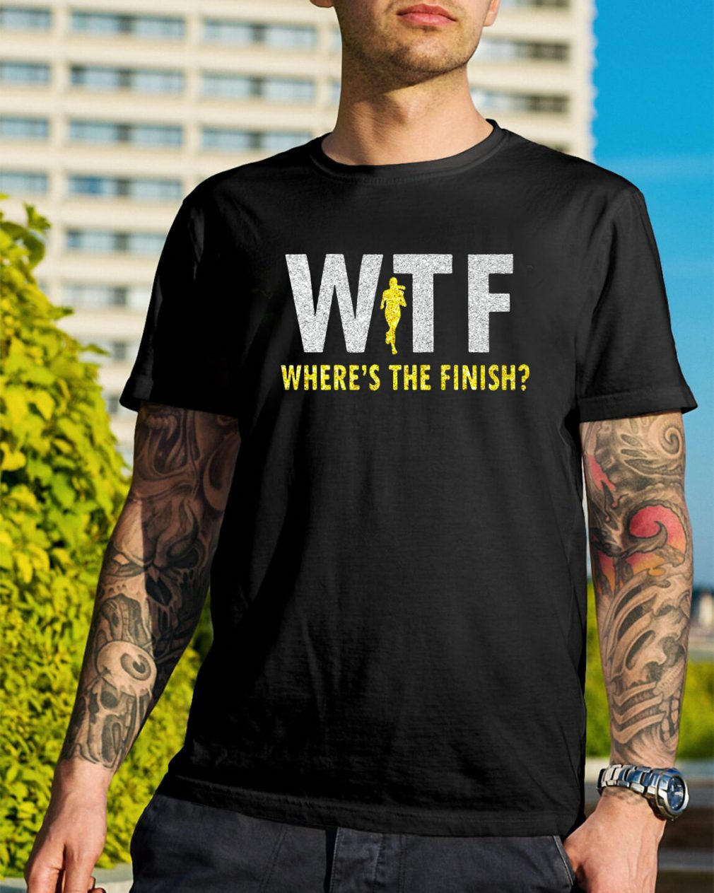 WTF where's the finish shirt
