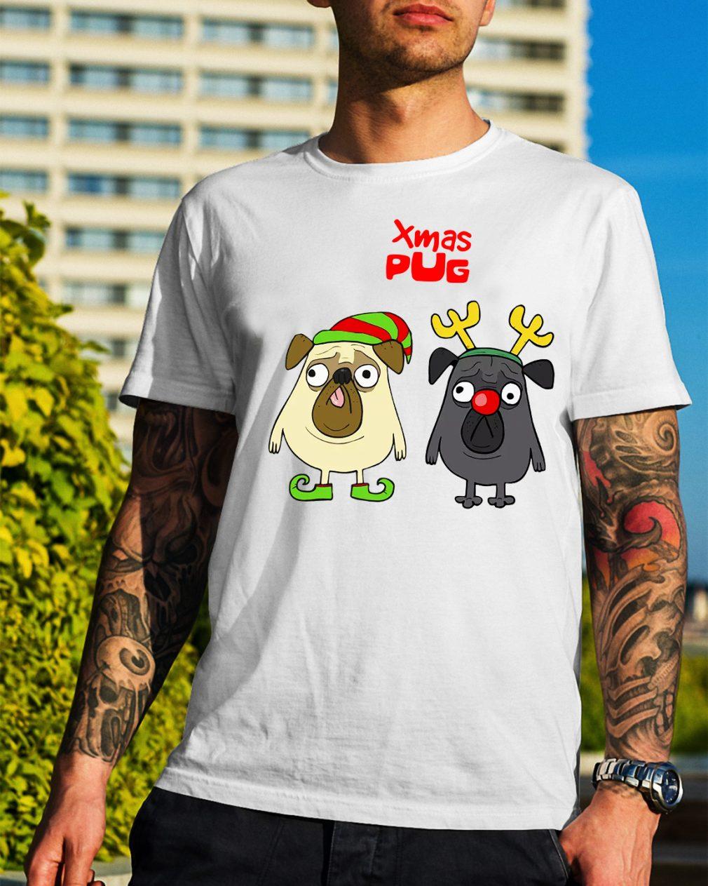 Xmas Pug Elf Christmas Guys Shirt