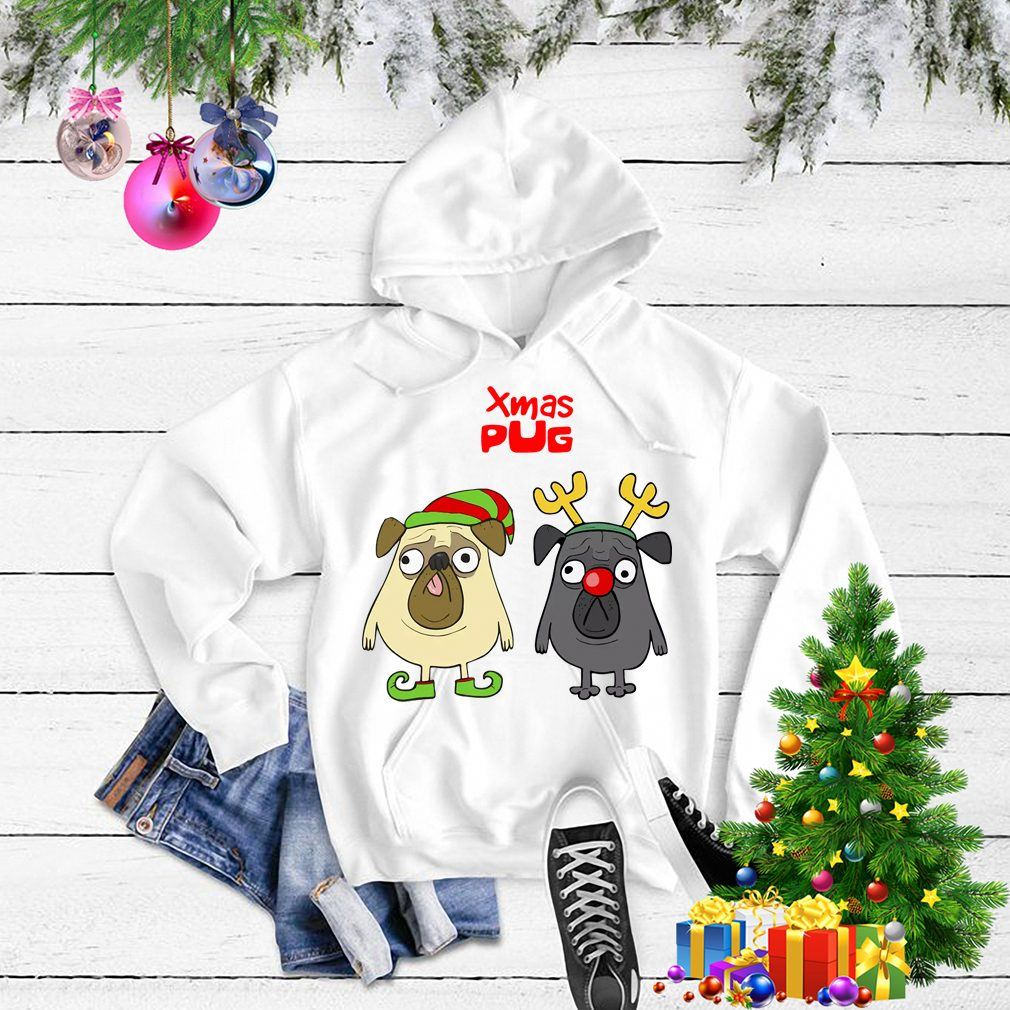 Xmas Pug Elf Christmas shirt, sweater