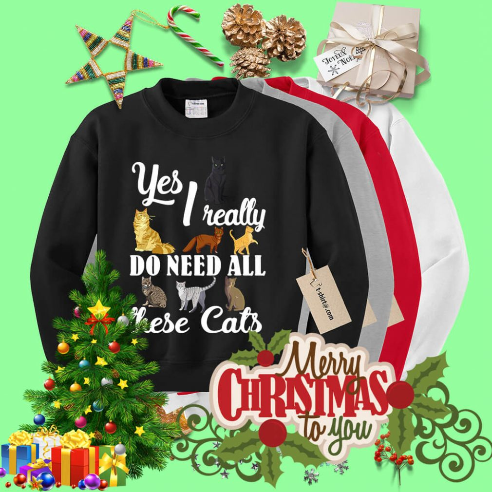 Yes I really do need all these cats Sweater