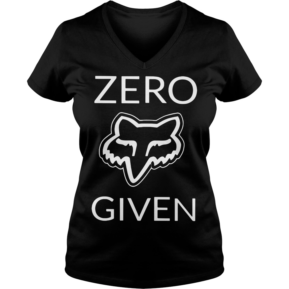 Zero fox given V-neck T-shirt