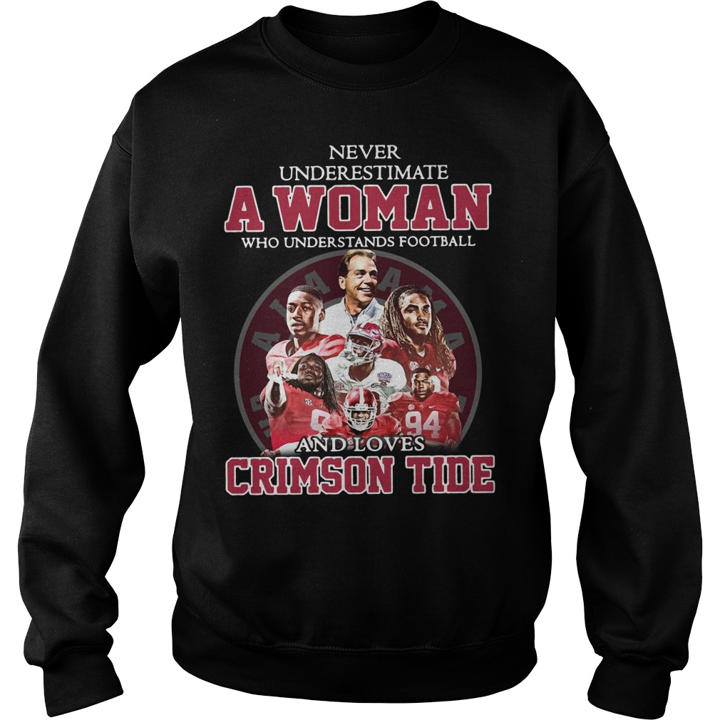 A woman who understands football and loves Crimson Tide Sweater