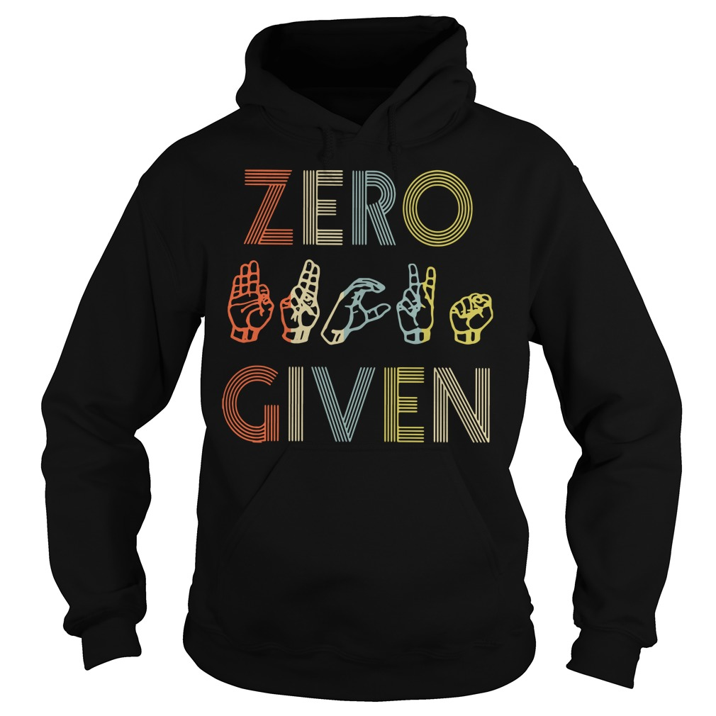 American sign language zero given Hoodie