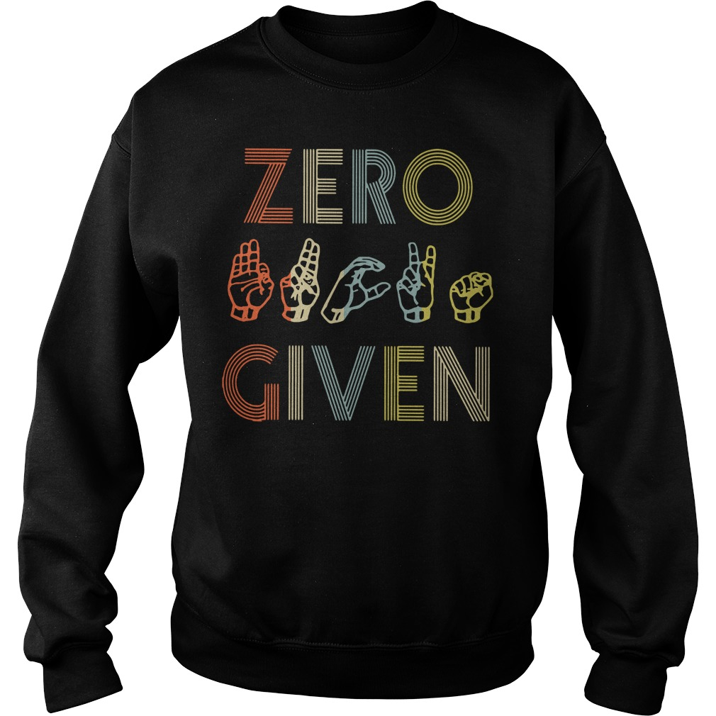American sign language zero given Sweater