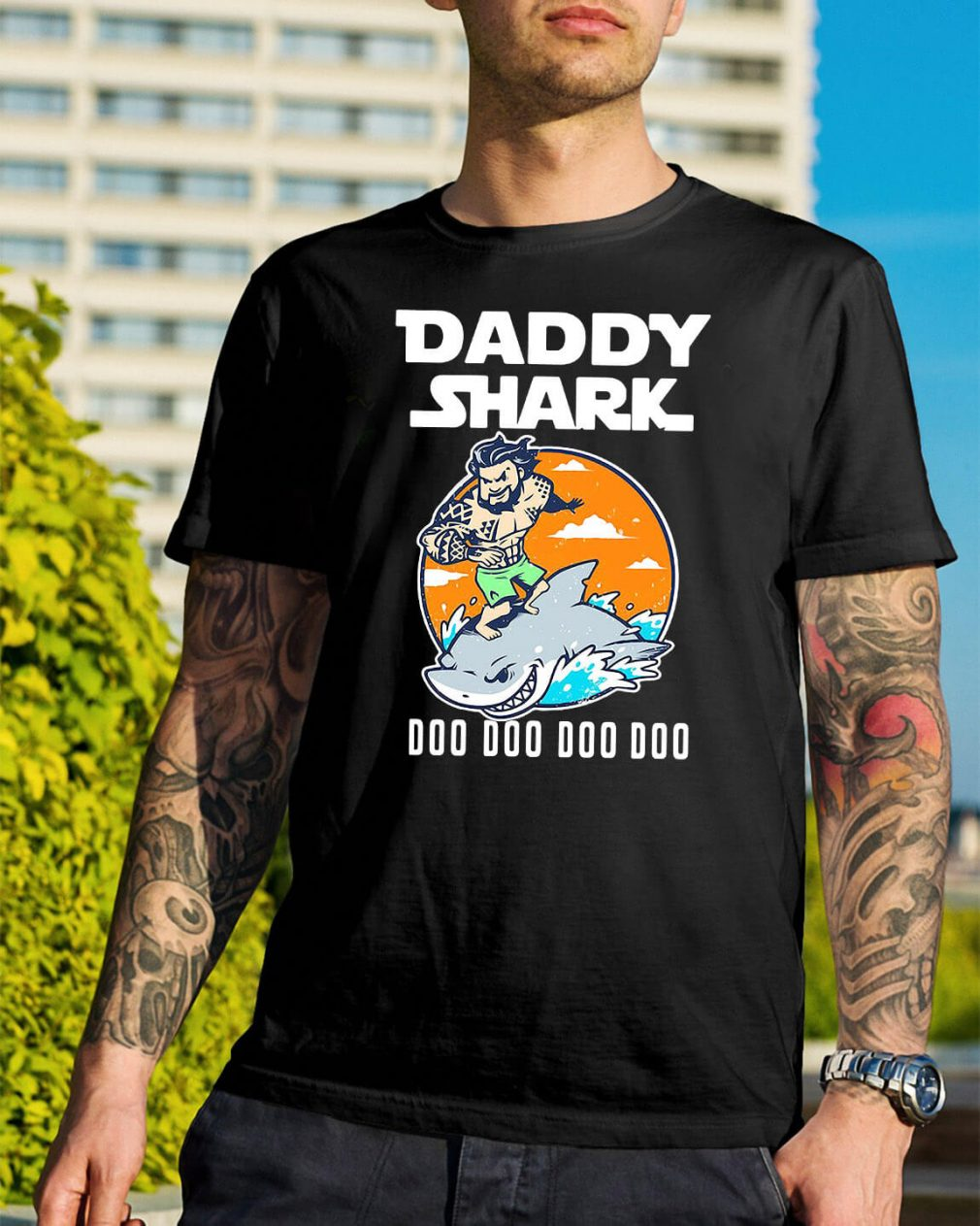 Aquaman Daddy Shark doo doo doo shirt