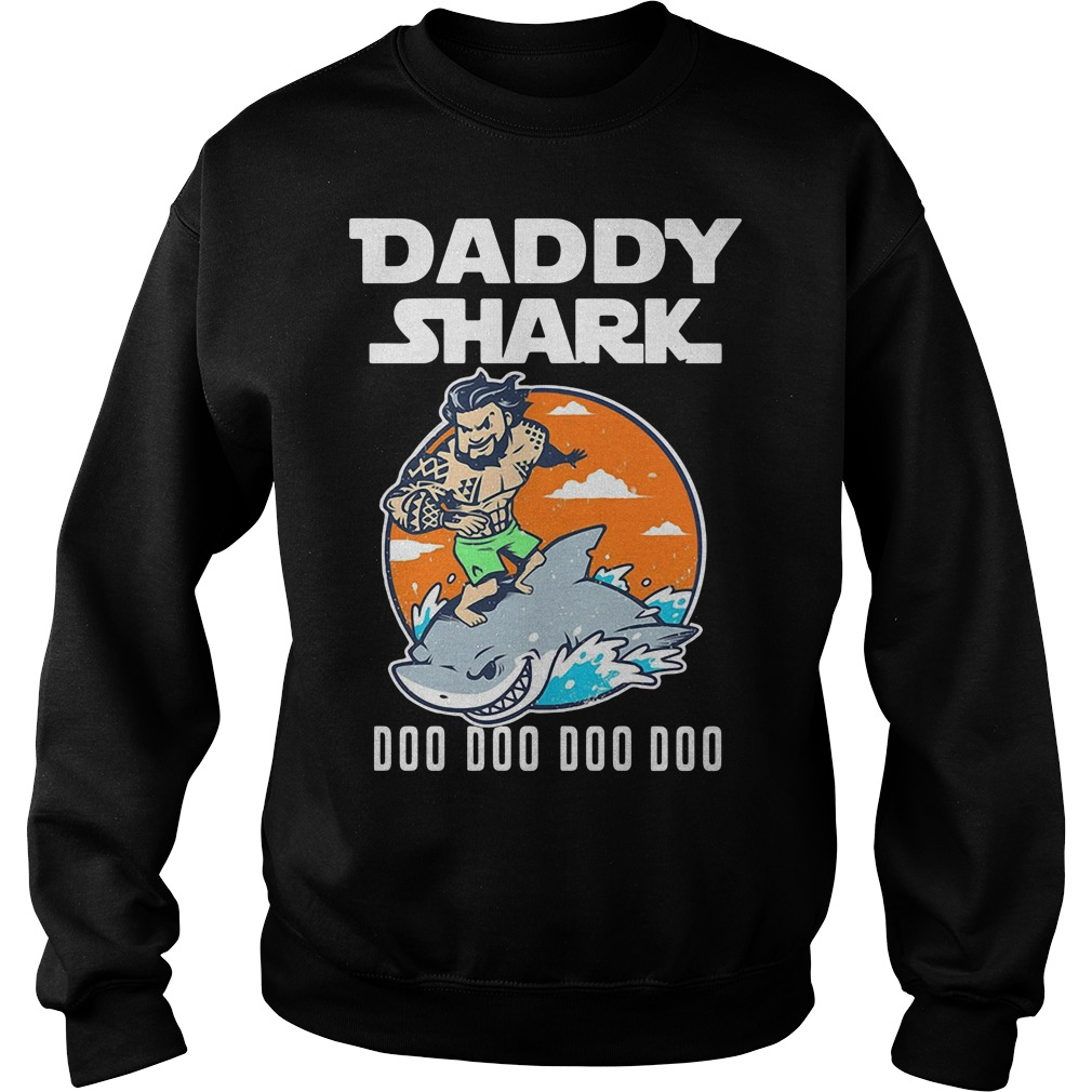 Aquaman Daddy Shark doo doo doo Sweater