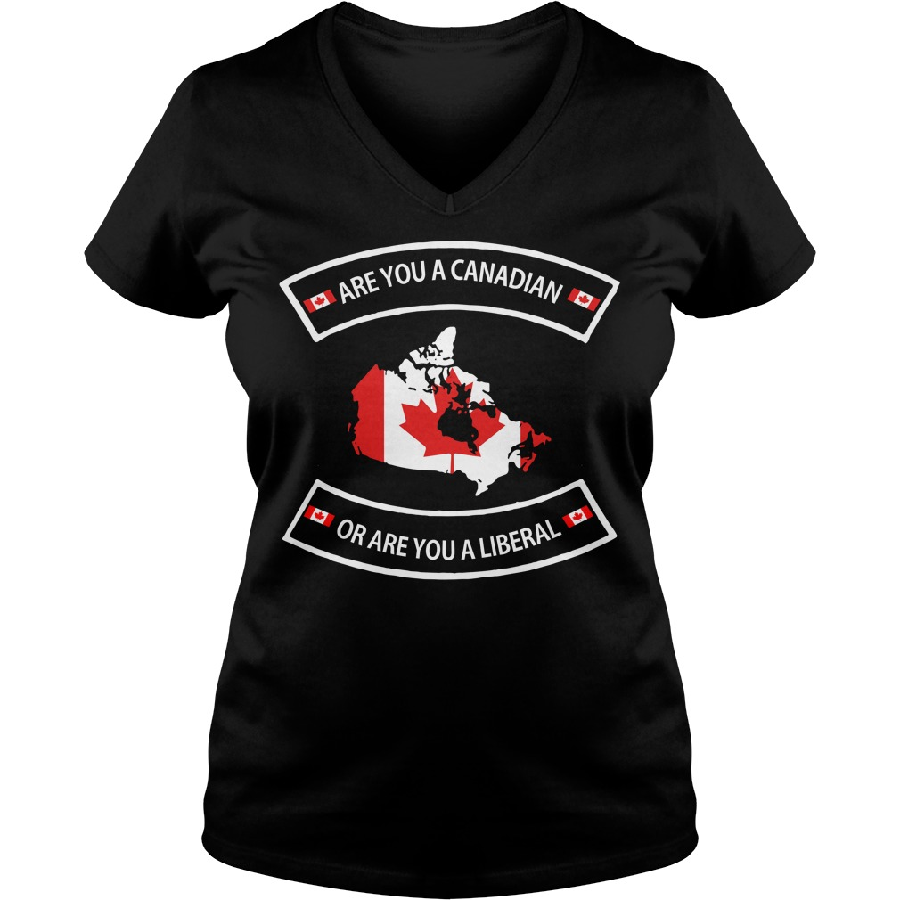 Are you a Canadian or are you a Liberal V-neck T-shirt