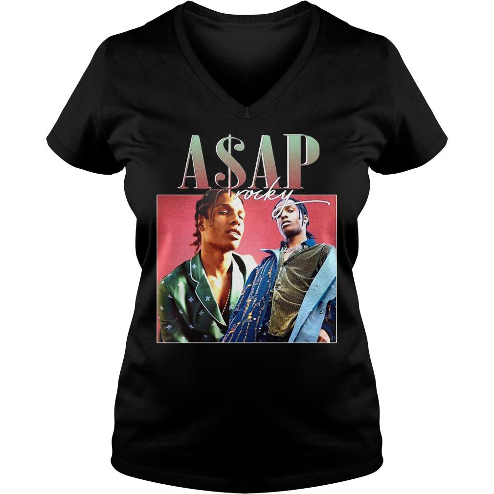 Asap Rocky V-neck T-shirt