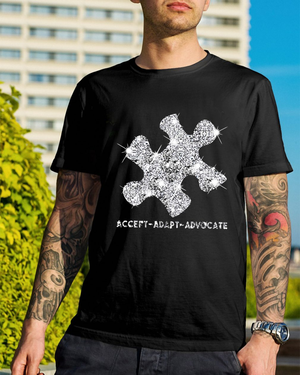 Autism Awareness accept adapt advocate shirt