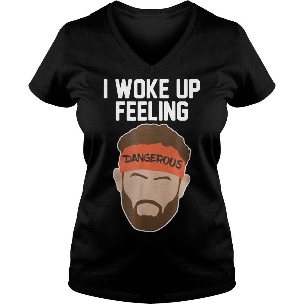 Baker Mayfield I woke up feeling dangerous V-neck T-shirt