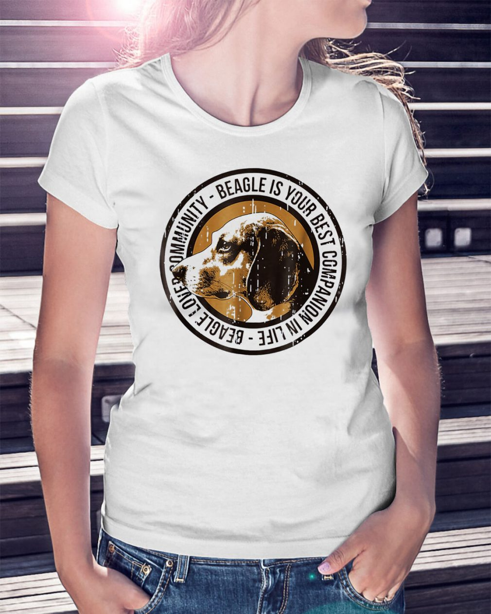 Beagle love community Beagle is your best companion in life Ladies Tee