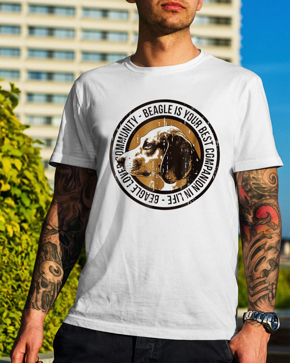 Beagle love community Beagle is your best companion in life shirt