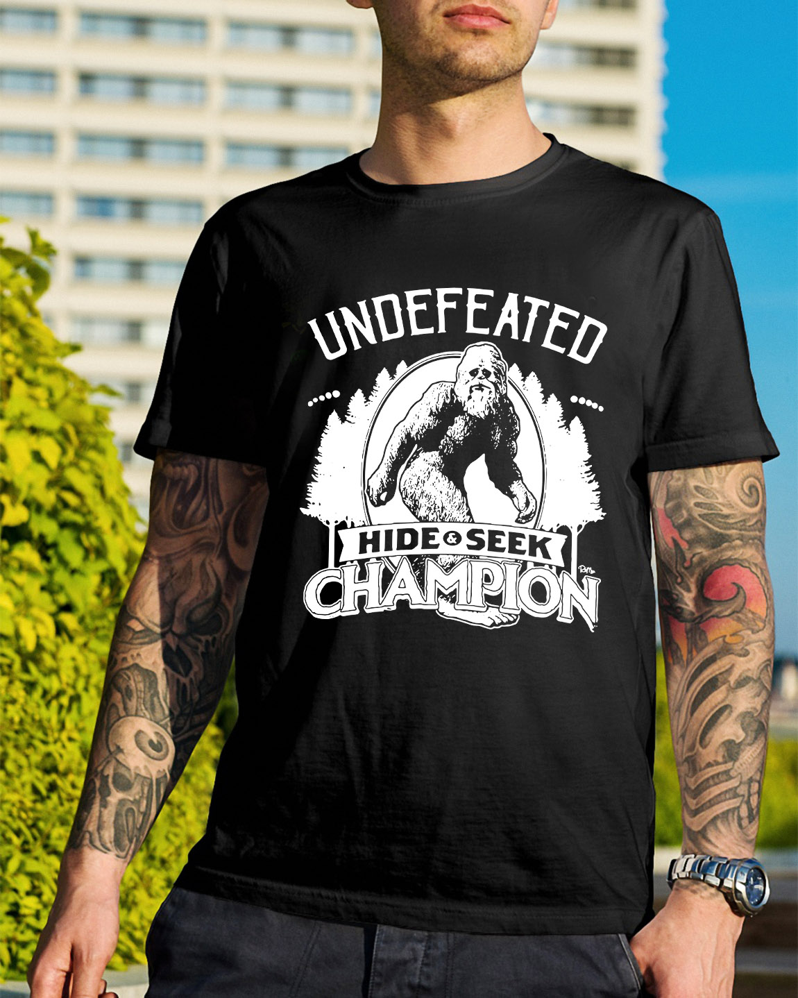 b7096d6b Bigfoot undefeated hide and seek champion shirt, hoodie, sweater