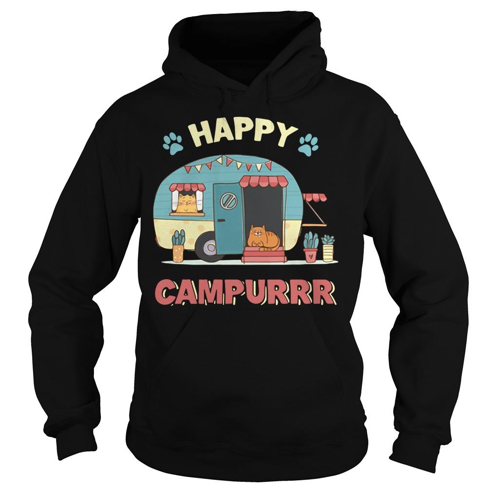 Camper cat happy campurrr Hoodie