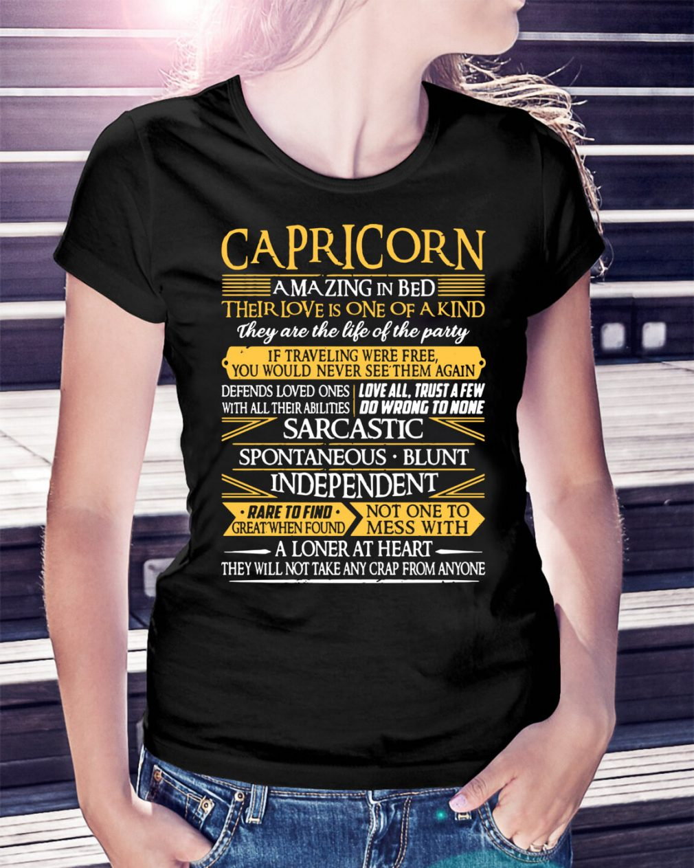 Capricorn amazing in bed their love is one of a kind they are the life Ladies Tee