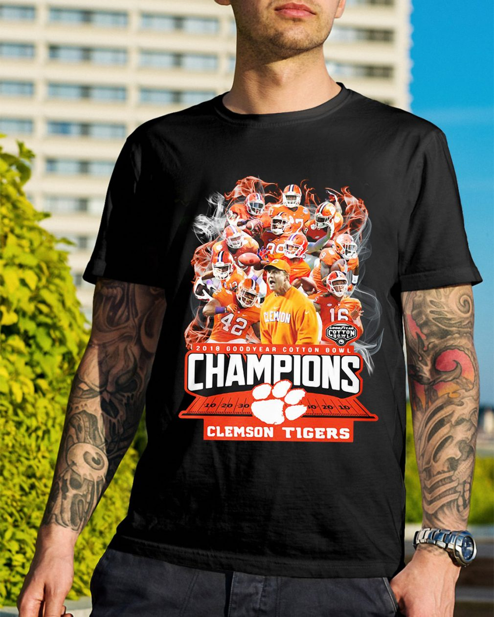 Clemson Tigers 2018 Goodyear cotton bowl Champions shirt