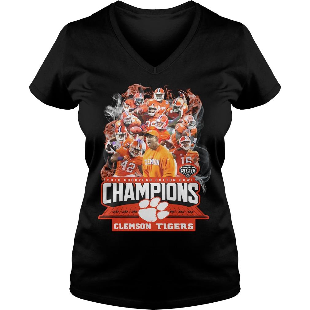 Clemson Tigers 2018 Goodyear cotton bowl Champions V-neck T-shirt