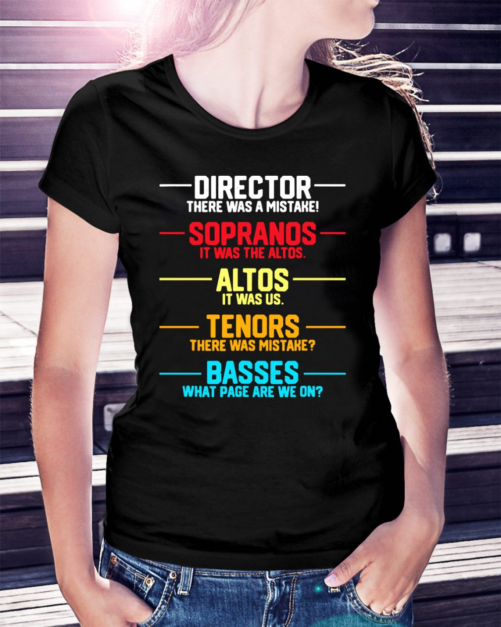 Director there was a mistake sopranos it was the altos altos it was us Ladies Tee
