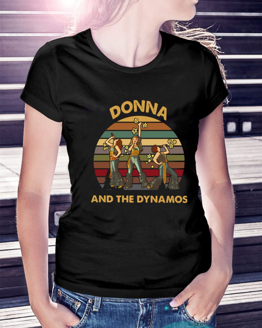 Donna and the Dynamos sunset retro Ladies Tee