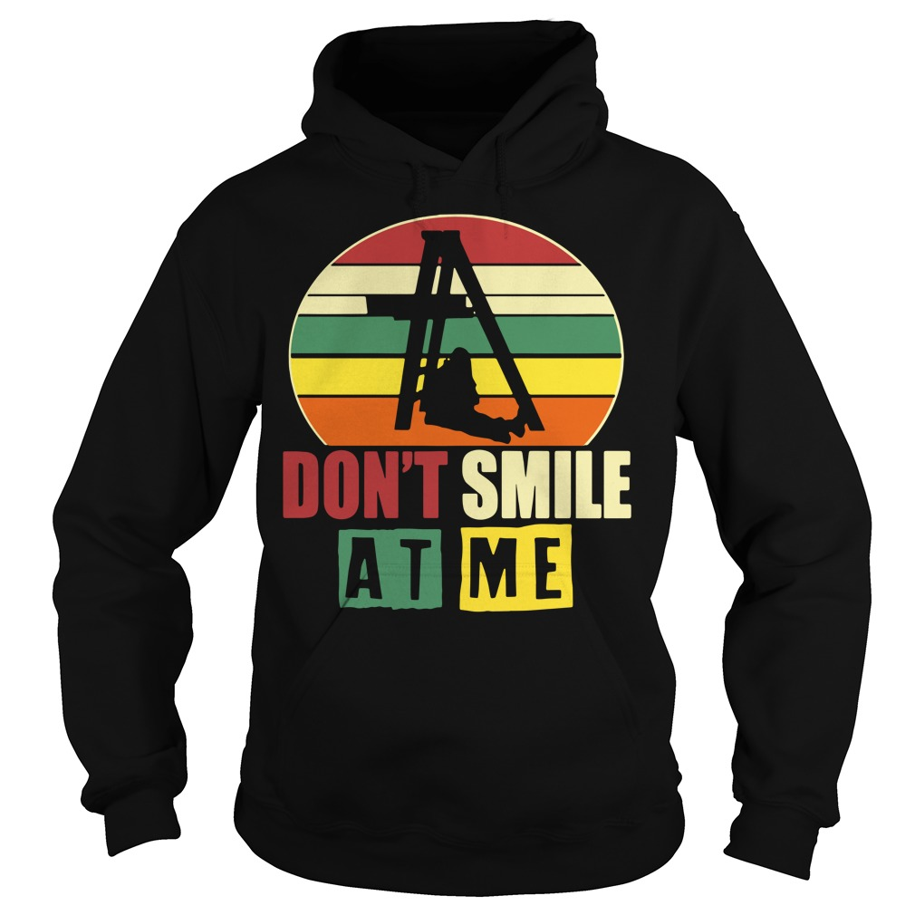 Don't smile at me sunset retro Hoodie