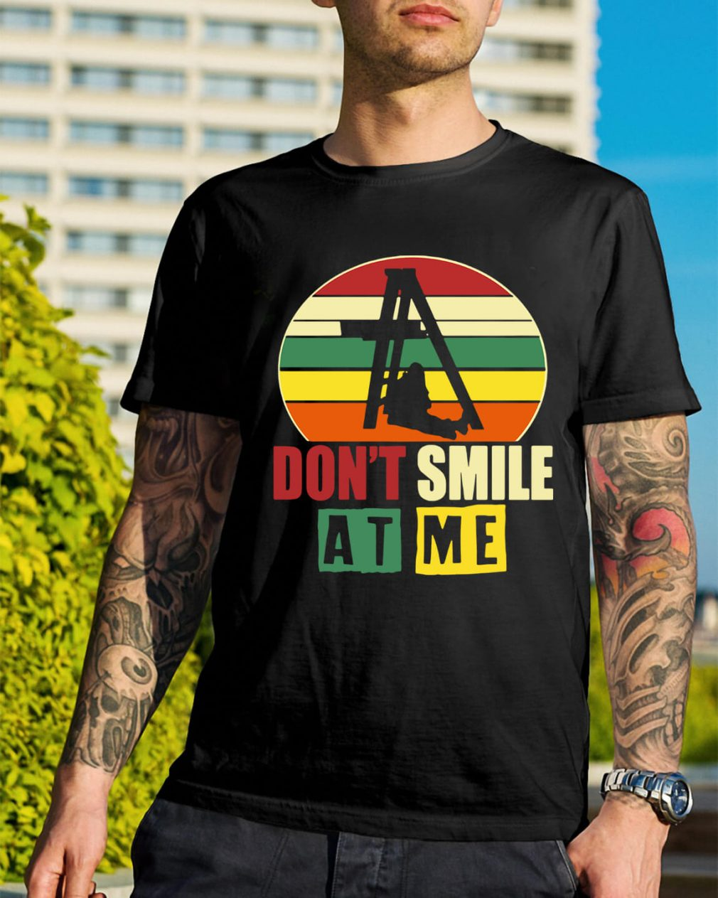 Don't smile at me sunset retro shirt