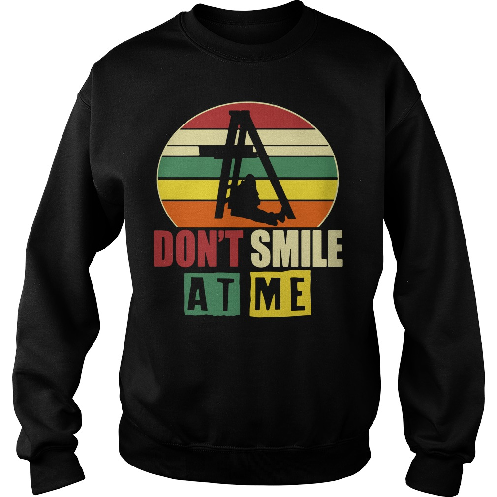 Don't smile at me sunset retro Sweater