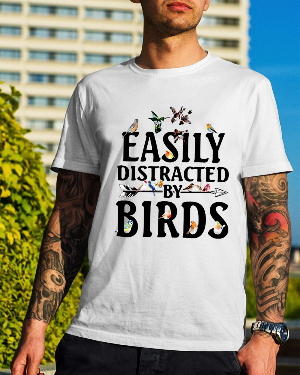 Easily distracted by birds shirt