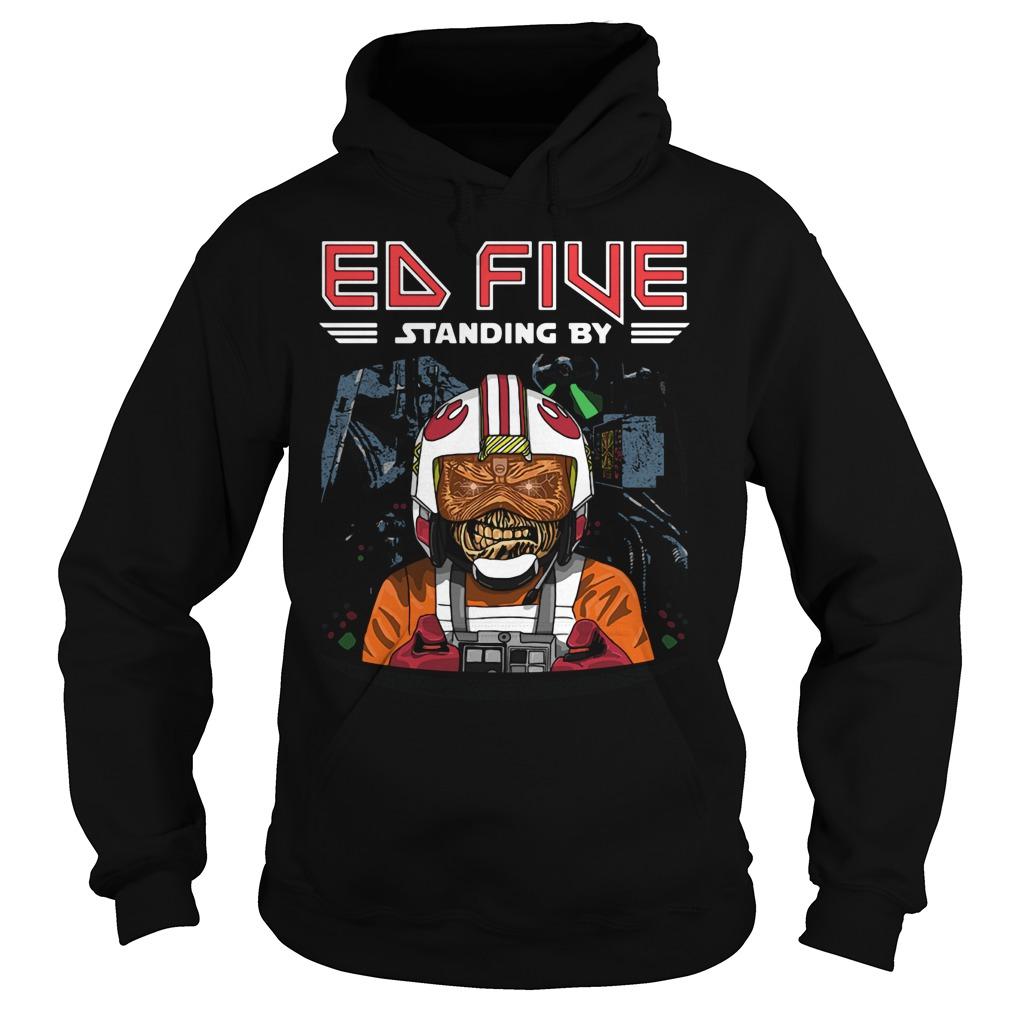Ed Five standing by Hoodie