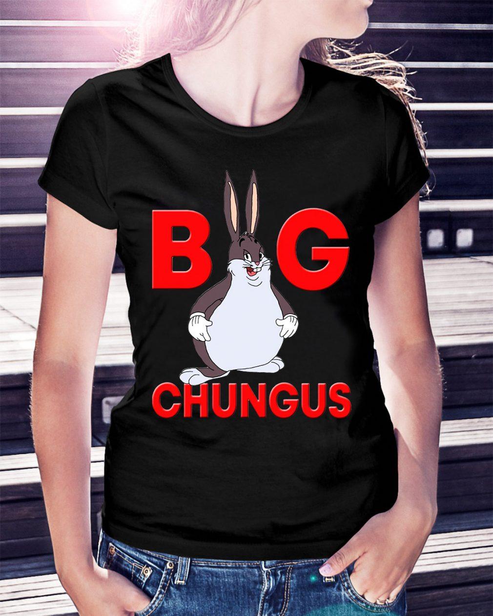 Fat bunny big chungus Ladies Tee