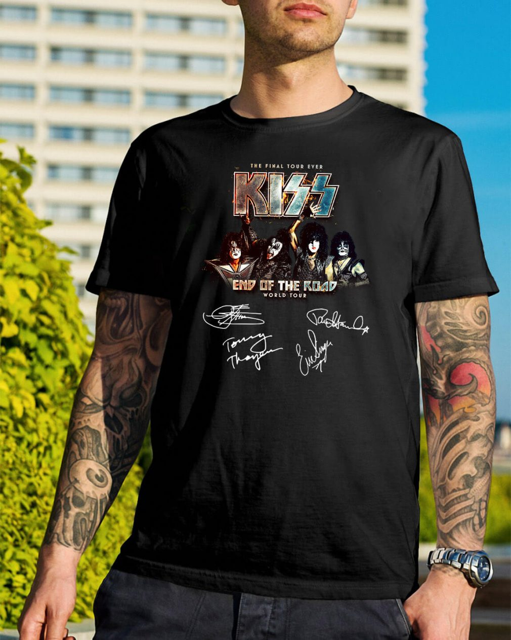 The final tour ever kiss end of the road world tour all character shirt