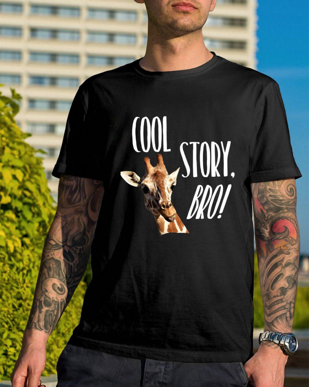 Giraffe cool story bro shirt