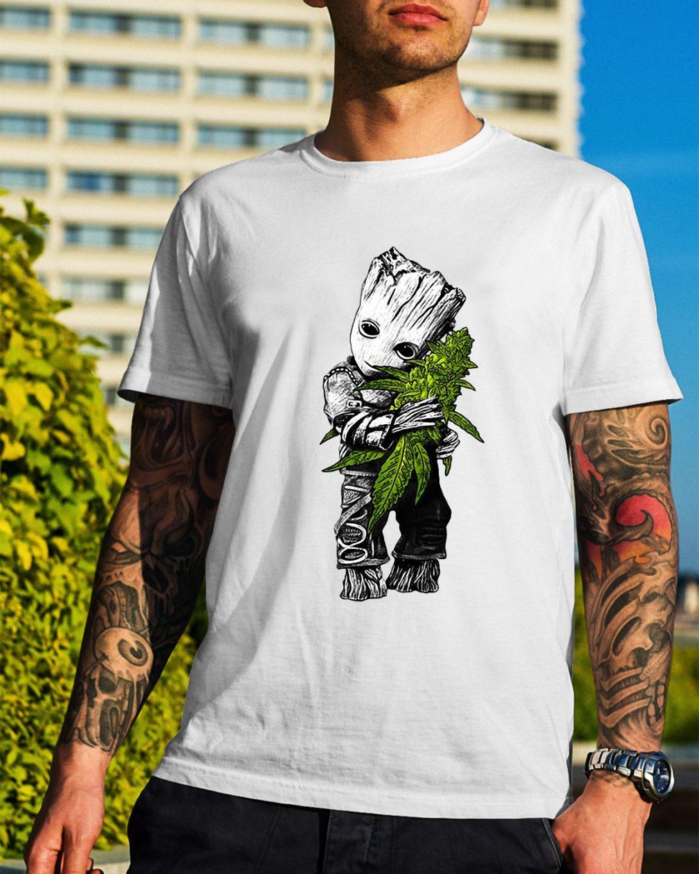 Groot hug weed shirt