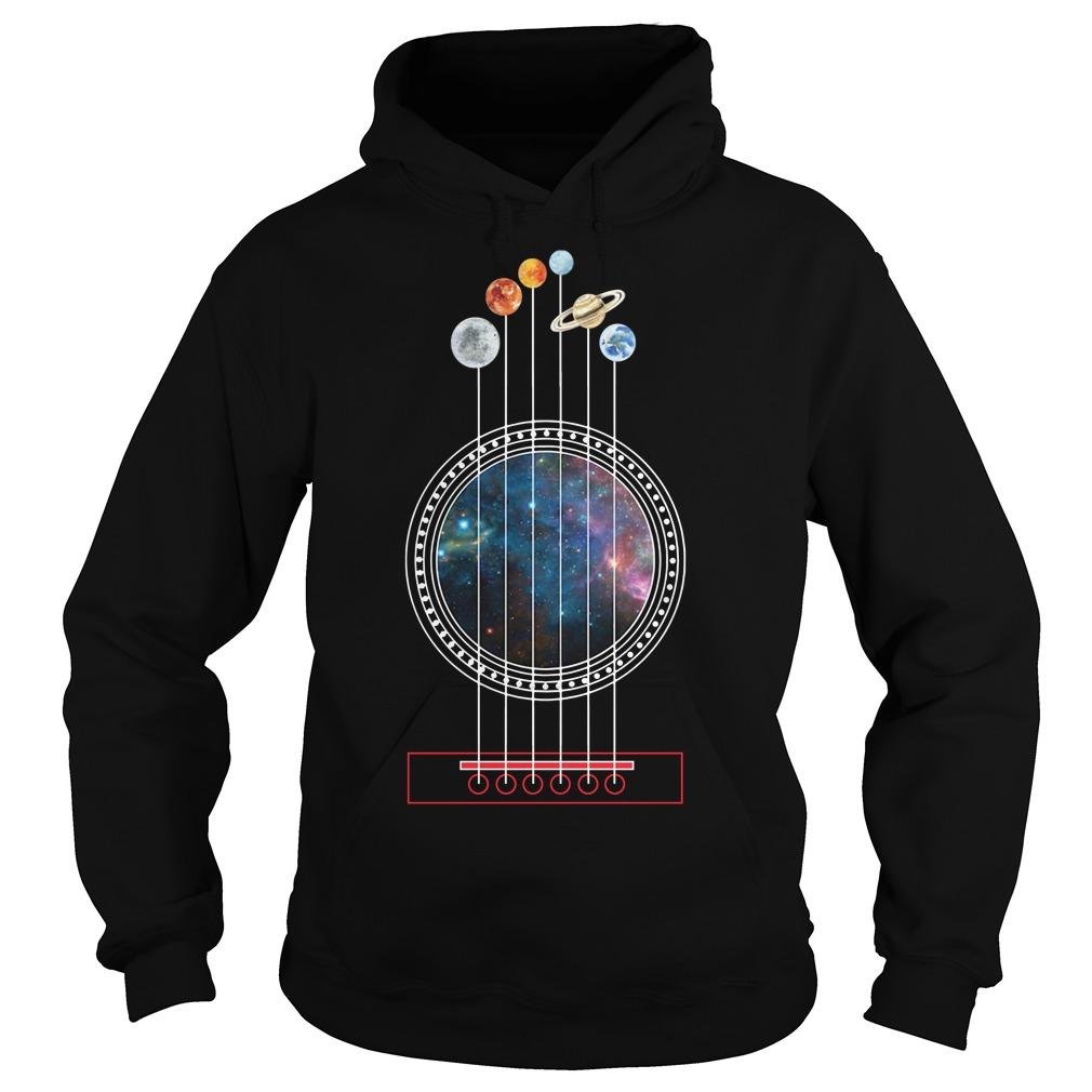 Guitarist guitar universe planete Hoodie