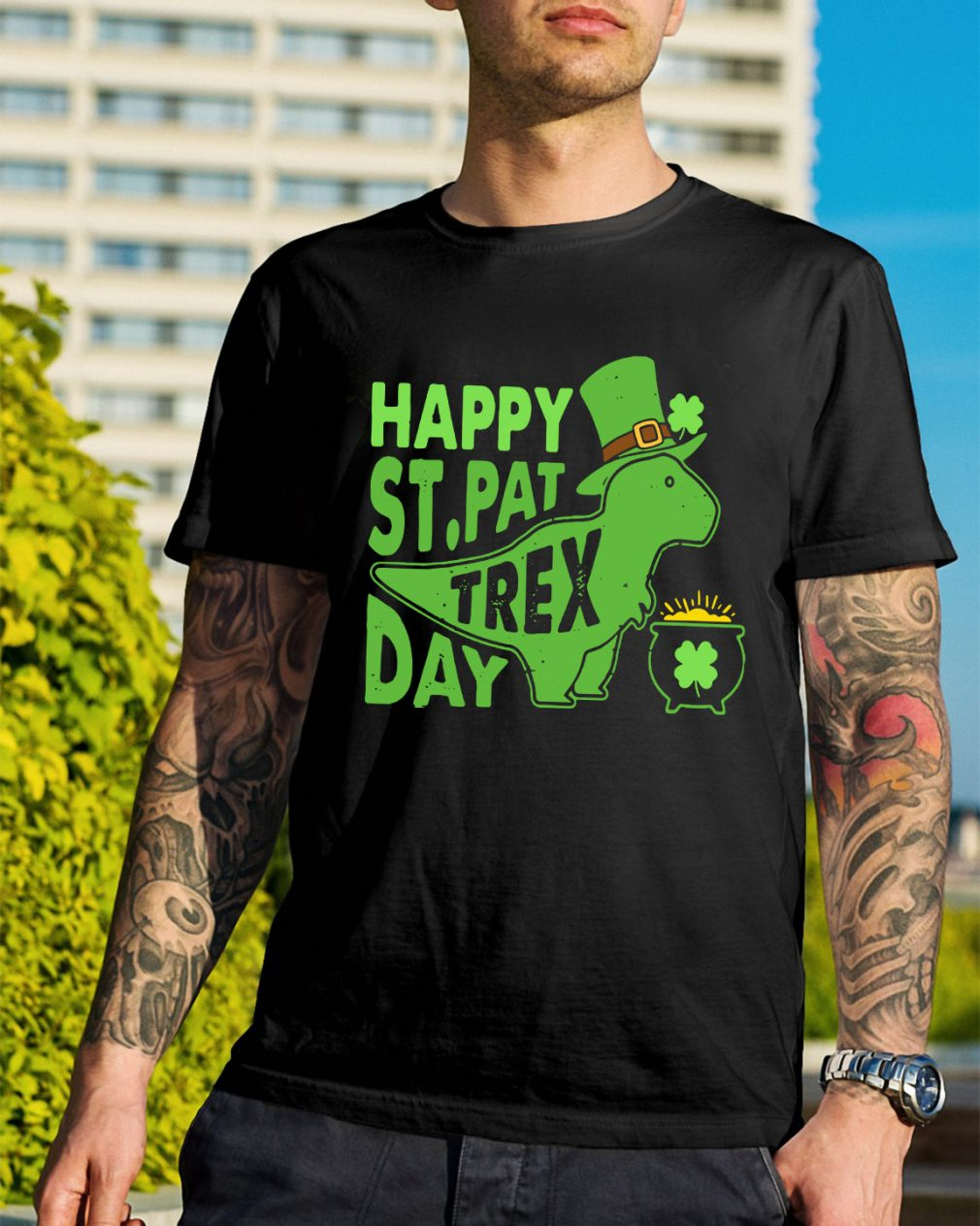 Happy St Pat t-rex day shirt