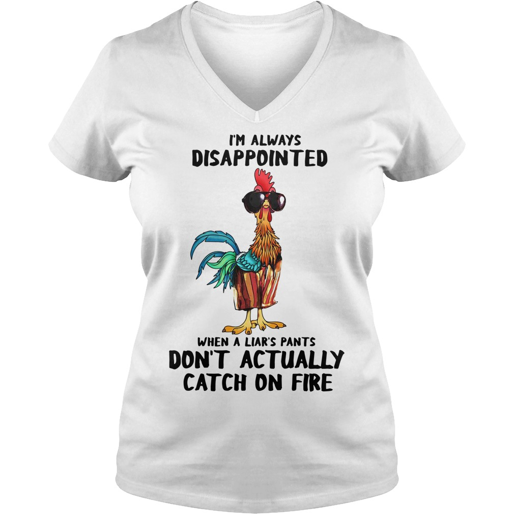 Hei Hei I'm always disappointed when a liar's pants V-neck T-shirt