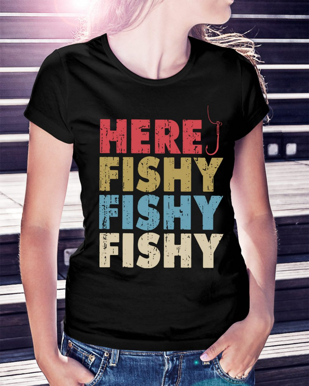 Here fishy fishy fishy Ladies Tee