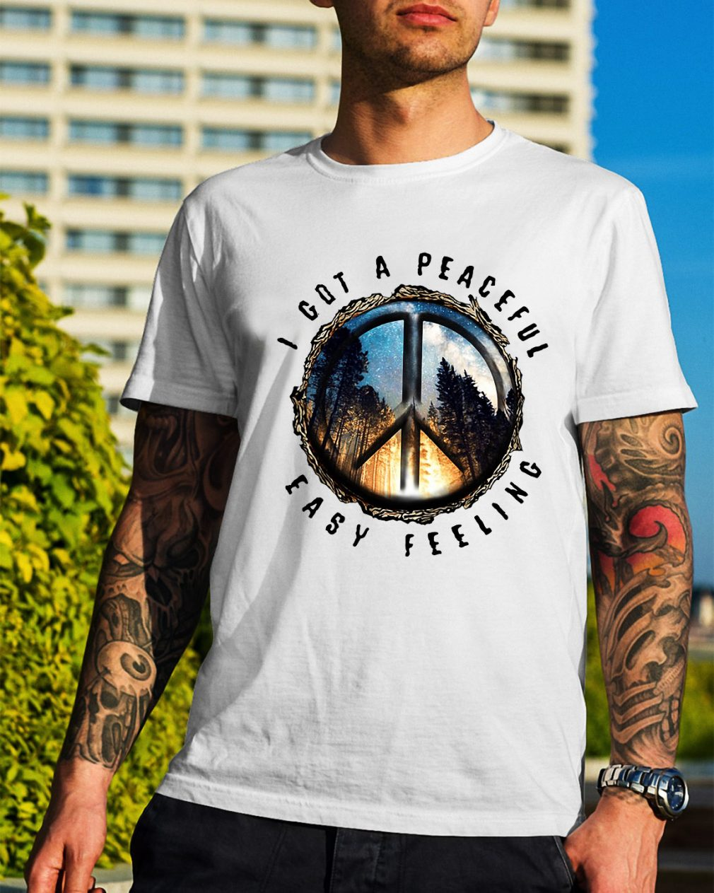 Hippie earth I got a peaceful easy feeling shirt