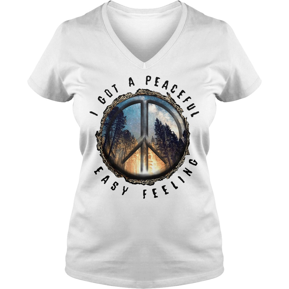 Hippie earth I got a peaceful easy feeling V-neck T-shirt