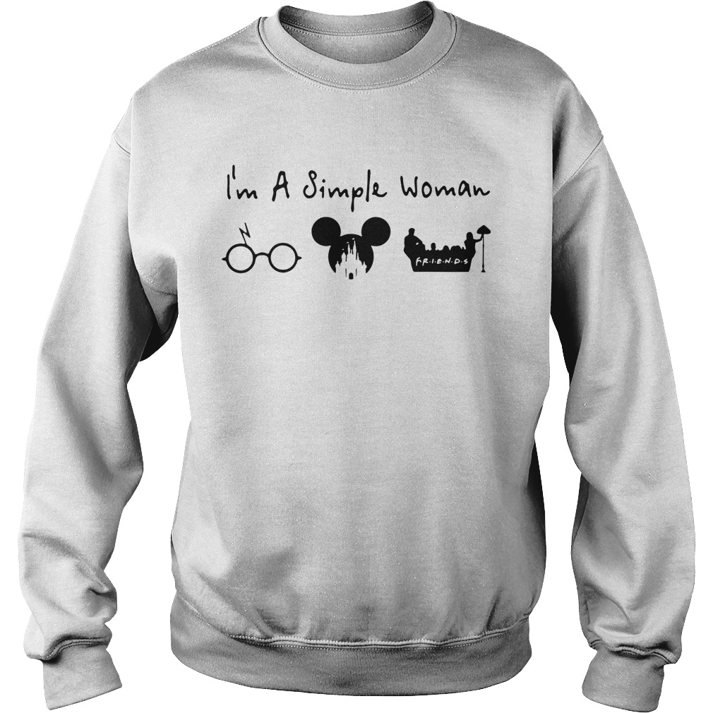I'm a simple woman I like Harry Potter Mickey Mouse and Friends Sweater